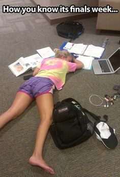 Forget finals week, this is how I feel trying to study for Anatomy while still doing my normal coursework on time, working, interning, and farm duty sprinkled in!