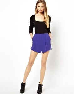 Image 1 of ASOS Skort With Pleat Front