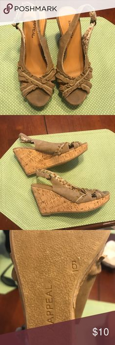 Wedges Tan wedges Xappeal Shoes Wedges