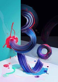 Atypical – Des créations entre peinture et typographie