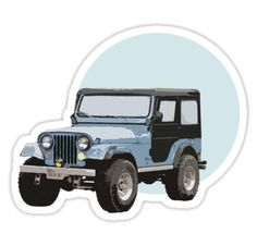 "Teen Wolf – Stiles Stilinski's Jeep ""Roscoe"" designed by TrashPhotoShop / Instagram: @trashphotoshop • Also buy this artwork on stickers, apparel, phone cases, and more."