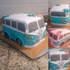 Mi tercera tarta fondant hippie!