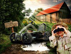 Beat the mud and conquer the hill with these robust off-road #gokarts | Ga het duel aan met het modder en de heuvels, jij kan ze verslaan met deze off-road #skelters - www.bergtoys.com
