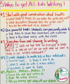 Here is how you can get ALL the kids in your class writing!!!