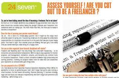 Think you're cut out for freelance?