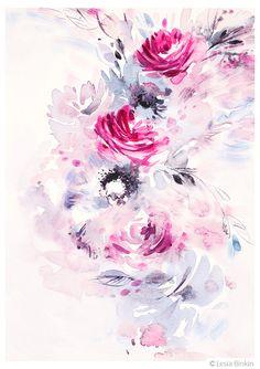130 best lesia binkin watercolor flowers images on pinterest in 2018