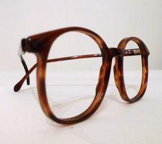 Unisex Vintage Big Roundish Tortoise Shell Oversized Eyeglass Frames by BibbysRocket, $134.00