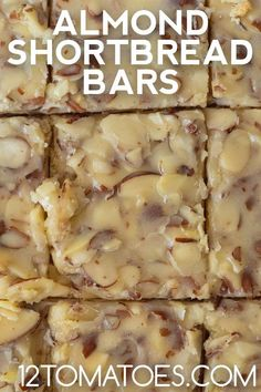 Yum! Shortbread Bars, Almond Paste, Fall Recipes, Macaroni And Cheese, Goodies, Food And Drink, Vegetarian, Yummy Food, Treats