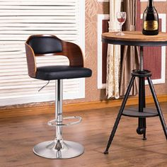 Shop for Adeco Walnut Off-black Modern Vented Back Adjustable Swivel Bar Stool. Get free shipping at Overstock.com - Your Online Furniture Outlet Store! Get 5% in rewards with Club O!