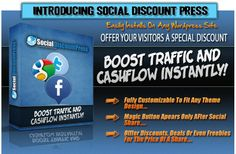 WSO - Social Discount Press. Boost traffic and cash-flow instantly, magic button appears only after social share. offer discounts, deals or even freebies for any price of a share, create amazing pay with a share and social deals in minutes and send your offer viral and fully customizable to fit any theme design. For more information, visit Free WSO: http://freewso.org/