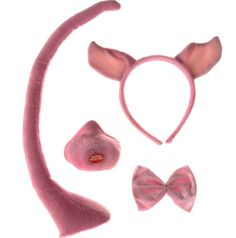 Make a pink bow tie for the boy pig!