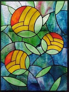 Diseño actual de una vidriera basada en el movimiento art decó