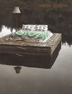 boho, my have to do this one, love being on the water,a many a sun burn from falling a sleep on the dock at the lake when i was kid.