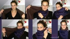 Wickelschal - made by Frau S. Nähanleitung auf http://www.leni-pepunkt.de/adventskalender-tuerchen-22-tutorial-fuer-einen-wickelschal-mit-knopf/                                                                                                                                                                                 Mehr