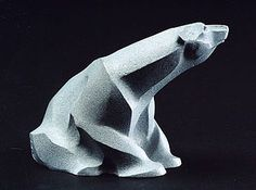 Ice Bear - polar bear by Rosetta Ice Sculptures, Animal Sculptures, Stone Sculpture, Sculpture Art, Soapstone Carving, Pottery Sculpture, Ceramic Animals, Bear Art, Indigenous Art