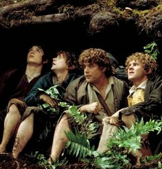 The Lord of the Rings: the Fellowship of the Ring - Elijah Wood, Billy Boyd, Sean Austin and Dominic Monaghan as Frodo, Pippin, Sam and Merry