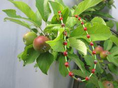Ketten kurz - Apfel-Kette KCA 34 - ein Designerstück von Behrenperlen bei DaWanda