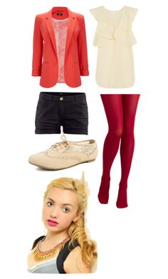 """Emma Ross"" by grace-laplante ❤ liked on Polyvore featuring tabbisocks, H&M, Wallis and See by Chloé"