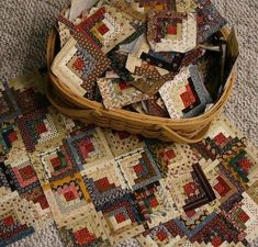 With Hook and Needle....I love log cabin quilts...specially with the home centers