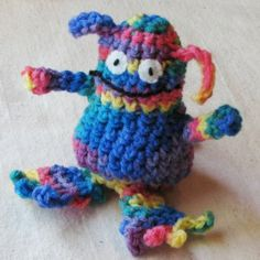 SnippetFairy. This store sells a variety of crafty items including crochet monster amis.