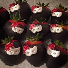 Masquerade chocolate covered strawberries