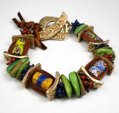 african trade bead bracelet