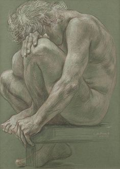 Paul Cadmus Art Print featuring the painting Male Nude by Paul Cadmus - Male Nude Art Print by Paul Cadmus Human Figure Drawing, Figure Sketching, Guy Drawing, Life Drawing, Drawing Reference, Anatomy Sketches, Anatomy Drawing, Art Sketches, Art Drawings