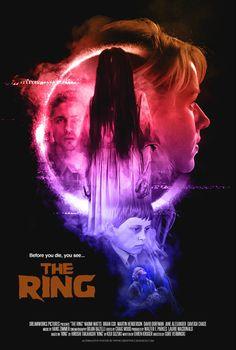 The Ring (2002)   Poster art by Creepy Duck Design Best Movie Posters, Love Posters, Horror Movie Posters, Movie Titles, Horror Movies, The Ring 2002, The Ring Two, Martin Henderson, Ring Horror