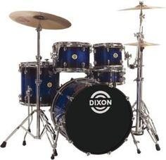 Dixon Outlaw Series OL-522E-BLBS 5-Piece Drum Set, Blue burst sparkle