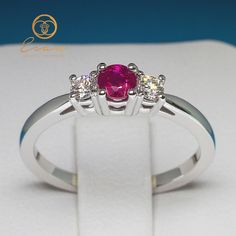 Inel de logodna din aur cu rubin si diamante ES82 Aur, Engagement Rings, Jewellery, Enagement Rings, Wedding Rings, Jewels, Jewelry Shop, Schmuck, Pave Engagement Rings