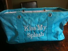 Swim Team Ideas Large Utility Tote by Thirty One You can see the current catalog and place an order or join my team at: http://www.mythirtyone.com/KathleenGurklies/