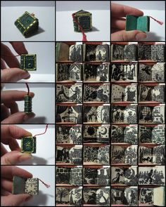 Miniature book | Classic fairy tale illustrations on pages the size of a thumbnail. | Perfect for a dollhouse library!