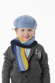 Hekle en tøff sixpence og et kult sjal til gutta