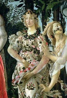 Detail, Allegory of Spring, Sandro Botticelli.
