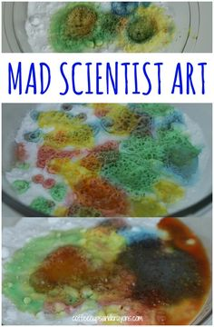 FUN Science and Art Project for Kids! Make Colorful Fizzy Masterpieces with a Basic Science Reaction.
