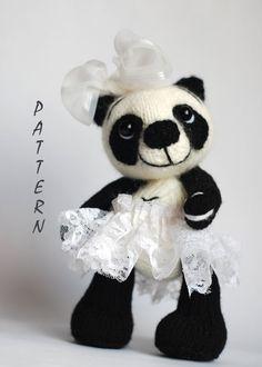 Panda Girl Bear  knitting pattern