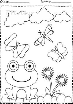 Spring Coloring Pages Frog Coloring Pages, Spring Coloring Pages, Mermaid Coloring Pages, Coloring Books, Easter Bunny Colouring, Christmas Tree Coloring Page, Drawing Competition, Jelly Roll Quilt Patterns, Drawing Sheet