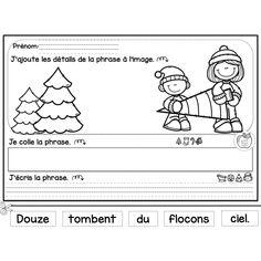 Fabrique de phrases - Noël Christmas Activities, Winter Activities, Core French, French Christmas, Teaching French, Writing Workshop, Grade 1, Language Arts, Teaching Resources