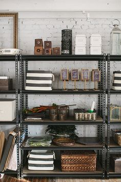 Karson Butler Events design studio // storage inspiration