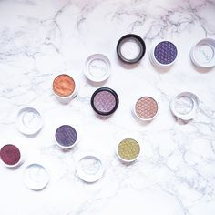 I love @colourpopcosmetics shadows especially how they look old vs new ! Dying to try their pressed formula now - what makeup products can't you wait to try ?     #colourpop #colourpopcosmetics #eyeshadow #eyeshadowpalette #eyeshadowsingles #colourpopcult #makeup #beauty #instamakeup #instabeauty #love #flatlay #instagood #instadaily #makeupflatlay #flatlayoftheday #colourful #colourfuleyes #greeneyes #bblogger #fbloggers #lifestyle #mua #sundayfunday #makeupaddict #makeuphaul #makeupblog