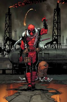 First: Deadpool let loose in an oil field! Then: Deadpool & Shiklah enter the Tomb of Scariness! Guest-starring Omega Red and damned dirty. Marvel Dc Comics, Archie Comics, Marvel 616, Bd Comics, Marvel Heroes, Deadpool Und Spiderman, Deadpool Art, Batman, Deadpool Images