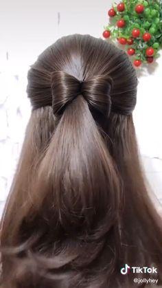 Front Hair Styles, Medium Hair Styles, Hair Medium, Medium Long, Hair Style Vedio, Bun Hairstyles For Long Hair, Hairstyles Videos, Office Hairstyles, Anime Hairstyles
