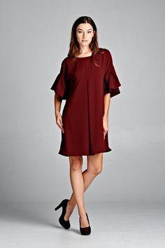 Ruffle Sleeve Tunic Dress – House of Rockefeller