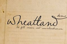 wheatland-free-font