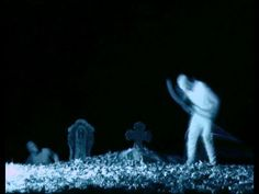 Graveyard ghosts caught on video .
