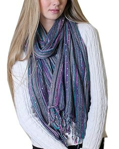 Women's Festival Bliss Shimmer Boho Chic Fashion Scarf with Tassels (Blue) at Amazon Women's Clothing store:sale christmas birthday gift Fashion Scarves, formal, dressy scarves, pashmina shawls, shawls, wraps, cute, pretty, unique scarves, holiday scarf, holiday gifts for women, affordable, versatile shawls, designer scarves, stylish, modern, trendy,