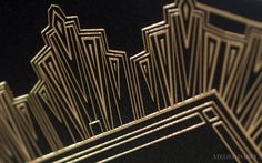 Black and Gold Deco Wedding Invitation on Behance