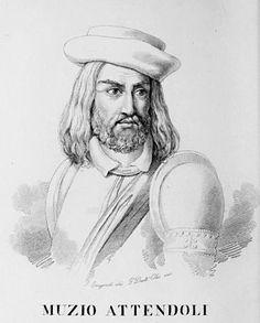 Muzio Attendolo Sforza (1369-1424) was an Italian condottiero. Founder of the Sforza dynasty, he led a Bolognese-Florentine army at the Battle of Casalecchio