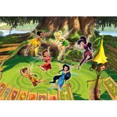 Disney Fairies - Tinkerbell, Emily, Rosetta and Fairies, In a Cheerful Mood x Wallpaper Photo Wallpaper, Wallpaper Roll, Wall Wallpaper, Amazing Wallpaper, Disney Fairies, Tinkerbell, Buy Wallpaper Online, Paradise Garden, Peter Pan Disney