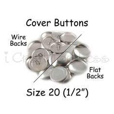 25 Cover Buttons / Fabric Covered Buttons  by everythingribbons